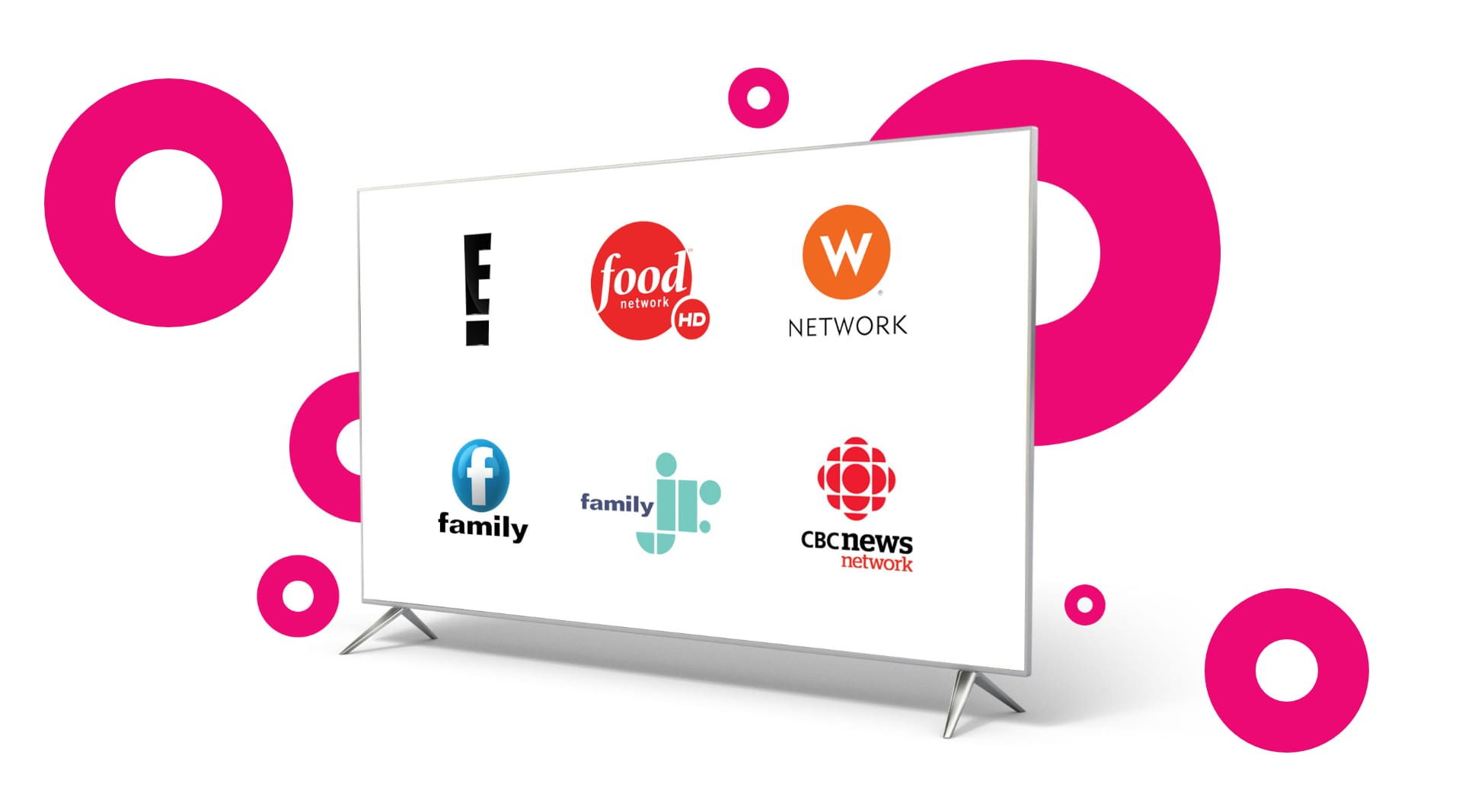 screen with the new Shaw Direct channel lineup