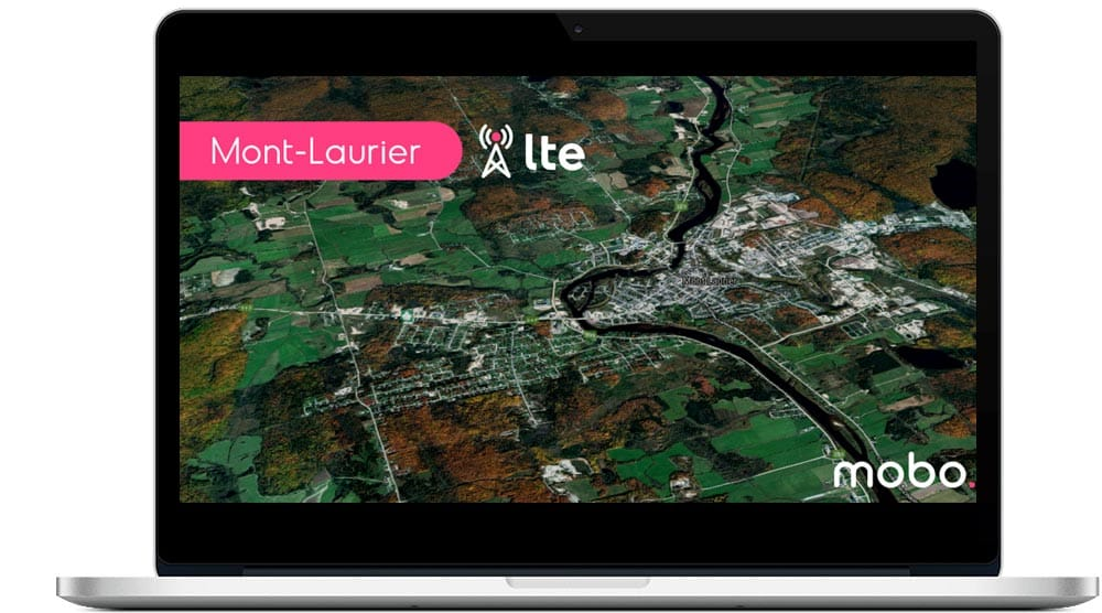 New LTE internet antenna in Mont-Laurier